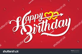 happy birthday brush script style lettering stock vector 544444318