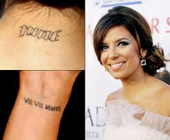 eva longoria photos worst celebrity tattoos ny daily news