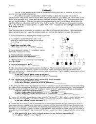 pedigree practice worksheets worksheets