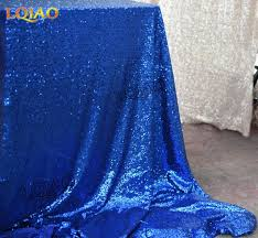 themed table cloth sparkly royal blue silver 120x200cm sequin glamorous tablecloth