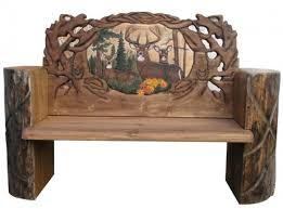 Rustic Log Benches - log benches rustic slab bench natural wood furniture woodland