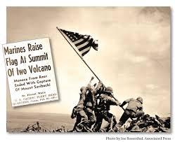Flag Iwo Jima Marines Raised The Stars And Stripes Above Iwo Jima This Day In