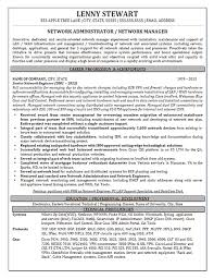 resume exles for objective section network manager resume exle