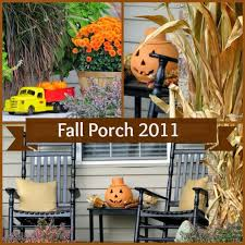 Fall Decorated Porches - transitioning the porch from fall to halloween house of hawthornes