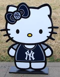 Wood Decor by Hello Kitty New York Yankees Here U0027s A Cute Wood Decor Sign To