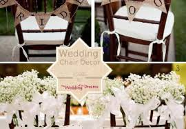 Chair Decorations Flower Chair Decorations For Weddings The Wedding Of My Dreams Blog