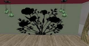 second life marketplace whimsy poppy silhouette flower garden
