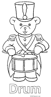 bears coloring pages drum