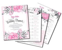 bridal wedding planner today s printables today s