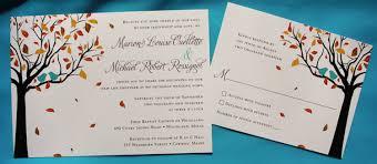 Love Bird Wedding Invitations Purple U0026 Turquoise Love Birds In A Fall Tree Wedding Stationery