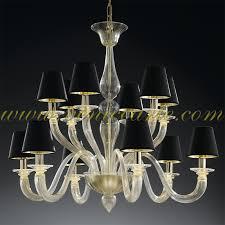 Gold Glass Chandelier Shiva Murano Glass Chandelier