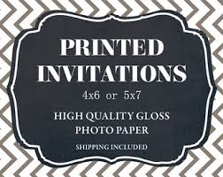 Invitation Printing Services Invitation Printing Service Profesionally Printed