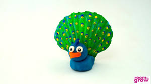 play dough peacock crafts for