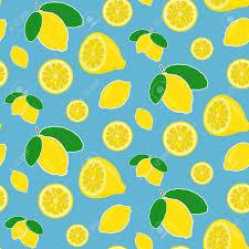 seamless lemon pattern seamless vector lemon pattern in bright happy colors royalty free