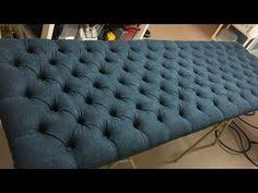 How To Button Upholstery Diy Crystal Tufted Furniture Piece As A Backdrop Felicia M