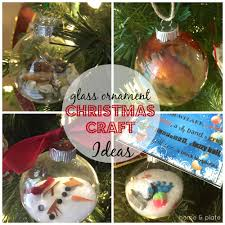 Holiday Photo Ornament Craft Ideas Glass Ornament Christmas Craft Ideas U2014 Home U0026 Plate Easy