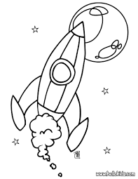 space coloring pages for kids with rocket printable free free