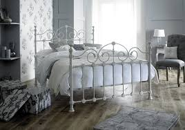 victorian style double 4ft 6inch cream metal bed frame amazon co