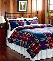 Red And Grey Comforter Red Plaid Flannel Comforter Set Grey Plaid Flannel Duvet Cover