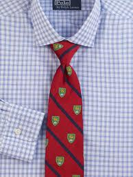 polo ralph lauren checked estate dress shirt in blue for men lyst