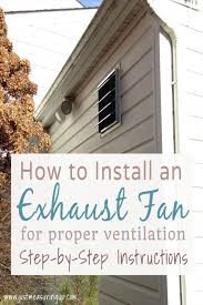 installing a gable vent fan exhaust fan for the garage step by step installation tutorial