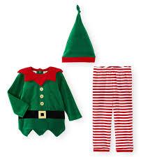 koala kids 3 piece christmas elf top pant and hat set babies