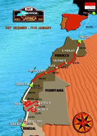 Dakar Senegal Map Africa Eco Race Enduro Adventure Organisation