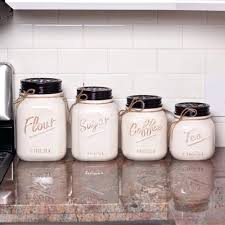 buy kitchen canisters ceramic jar wide jars ceramic white canister
