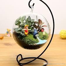 8cm clear hanging glass vase succulent air plant terrarium glass