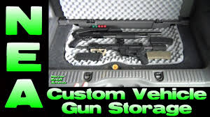 homemade tactical vehicles custom vehicle gun storage diy install youtube