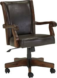 Leather Rolling Chair by Bedroom Mesmerizing Dark Finish Antique Wooden Desk Chair On