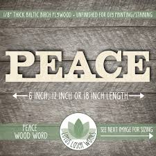 peace wood word sign wooden words wood word wall wall