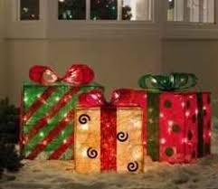 indoor lighted gift boxes decorate your front yard front porch business or your