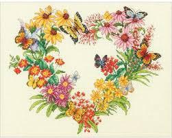 dimensions wildflower wreath cross stitch kit 70 35336
