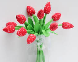 Flowers For Birthday Mother U0027s Day Gift Fabric Tulip Flowers Alternative Bouquet