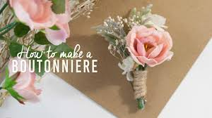 boutonniere flower diy basic boutonniere simple