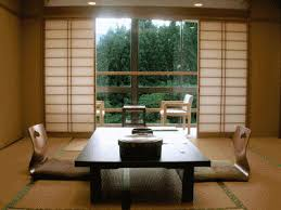a japanese dining room displaying low furniture home inspiration