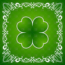 clover leaf and ornamental frame st patricks day vector image