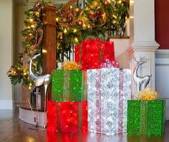 christmas boxes diy christmas decorations 4 lighted gift boxes
