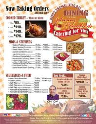 thanksgiving day turkeys and dinners now taking orders johnny