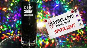 maybelline color show spot light nail polish in motion youtube