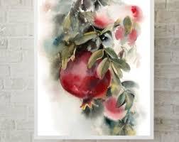 pomegranate painting etsy