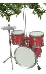 drum set ornament silver musical instrument