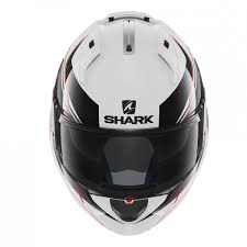 Evoline Prise Escamotable by Casque Shark Evo One Krono Blanc Noir Rouge Casque Modulable