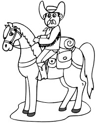 free cowboy coloring pages brandsomasz