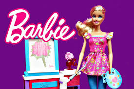 barbie art teacher doll artist with color changer paint brush by