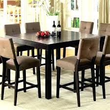 bar height dining room table sets tall dining set cool black 5 bar height dining set room sets at