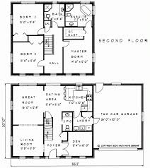 house floor plans 2 story 4 bedroom 3 bath plush home home plans