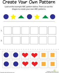 shape patterns worksheet education com