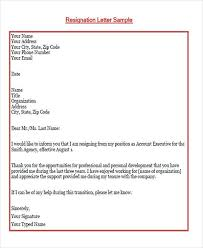 65 sample resignation letters